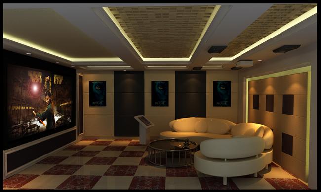 格拉斯小镇家庭影院-家庭影院 家庭影院设计-室内声学网