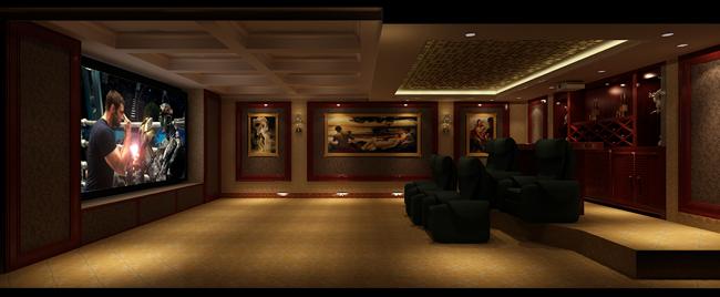 锦园私人影院-新古典主义典范-家庭影院 家庭影院设计-室内声学网